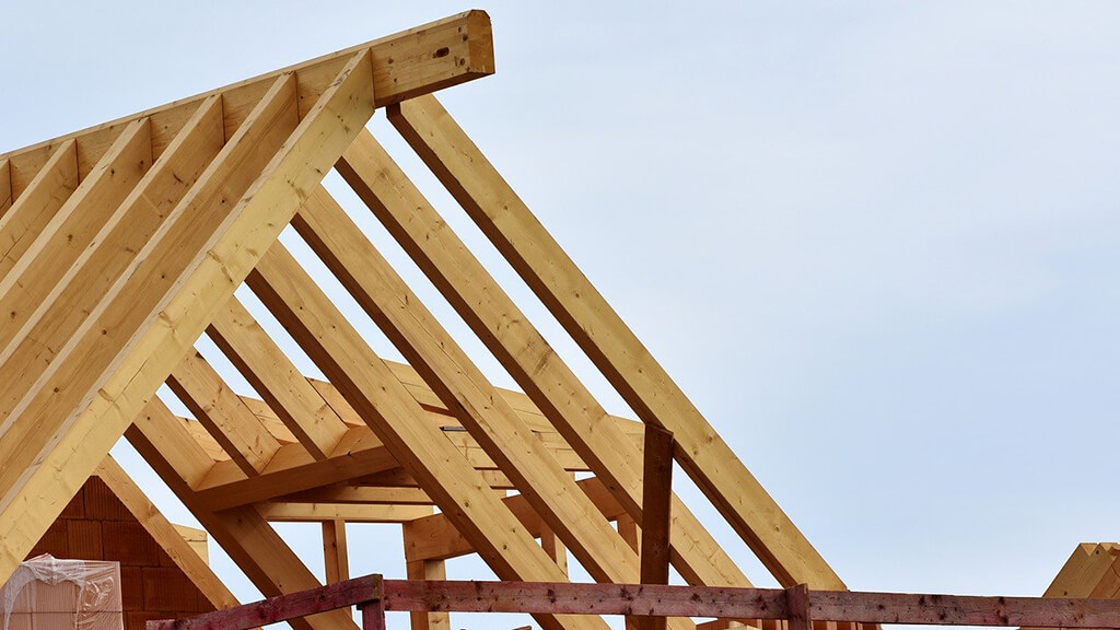 Roof Trusses on a New Home Build